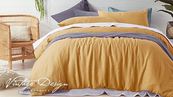 Vintage Design Bed Layering