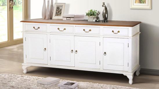 Elevated Home. White Mahogany Timber Furniture