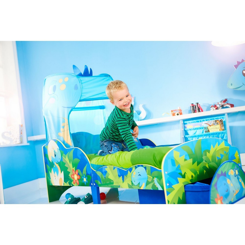 Dinosaur Toddler Bed with Canopy & Storage | Stay At Home Mum