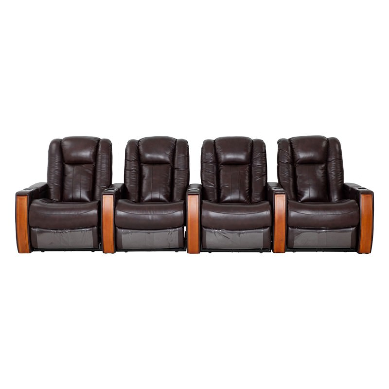 Executive Leather 4 Seater Electric Recliner Sofa