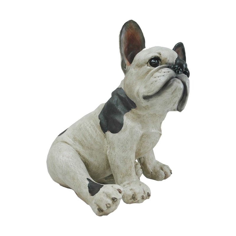 Polyresin Sitting French Bulldog Puppy Figurine Decor
