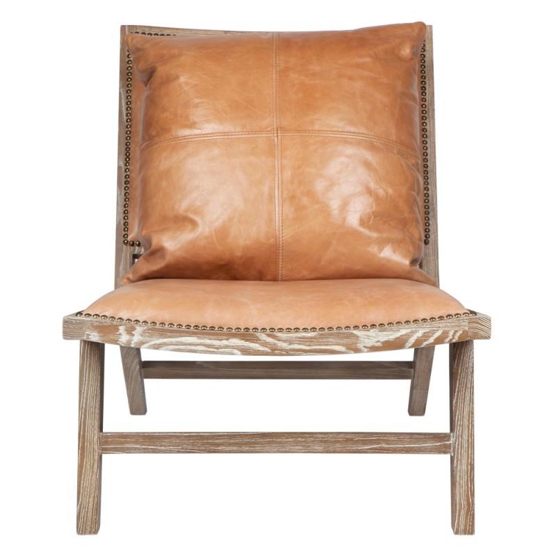 Sensational Messina Premium Leather Oak Timber Occasional Chair Tan Bralicious Painted Fabric Chair Ideas Braliciousco