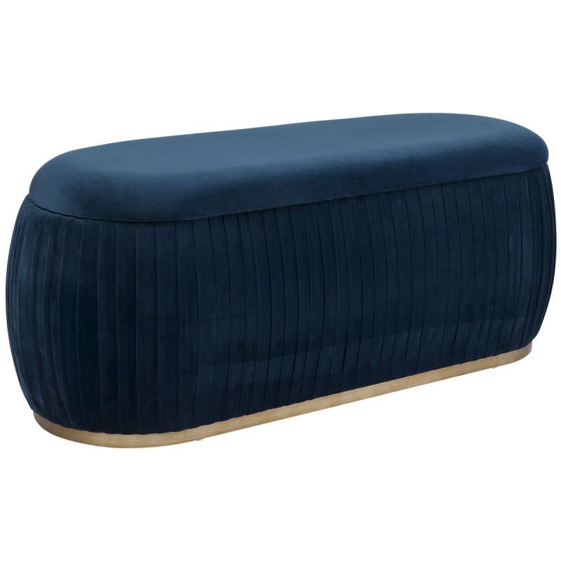 Peachy Capsule Velvet Fabric Storage Ottoman Navy Spiritservingveterans Wood Chair Design Ideas Spiritservingveteransorg