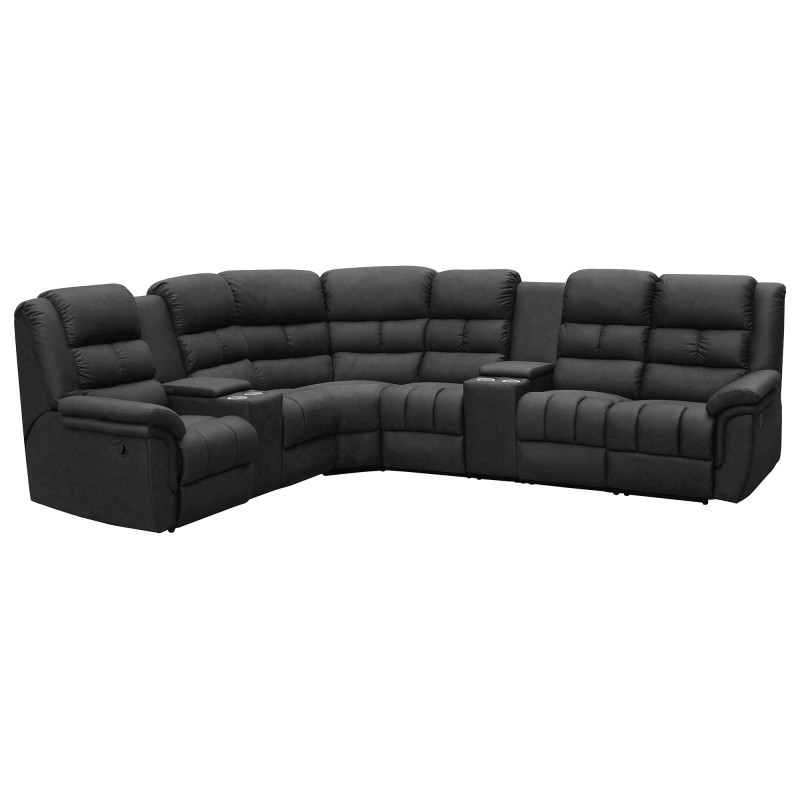 outlet store fd1cf cb116 Parkdale 5 Seater Corner Lounge Suite with Recliners, Charcoal