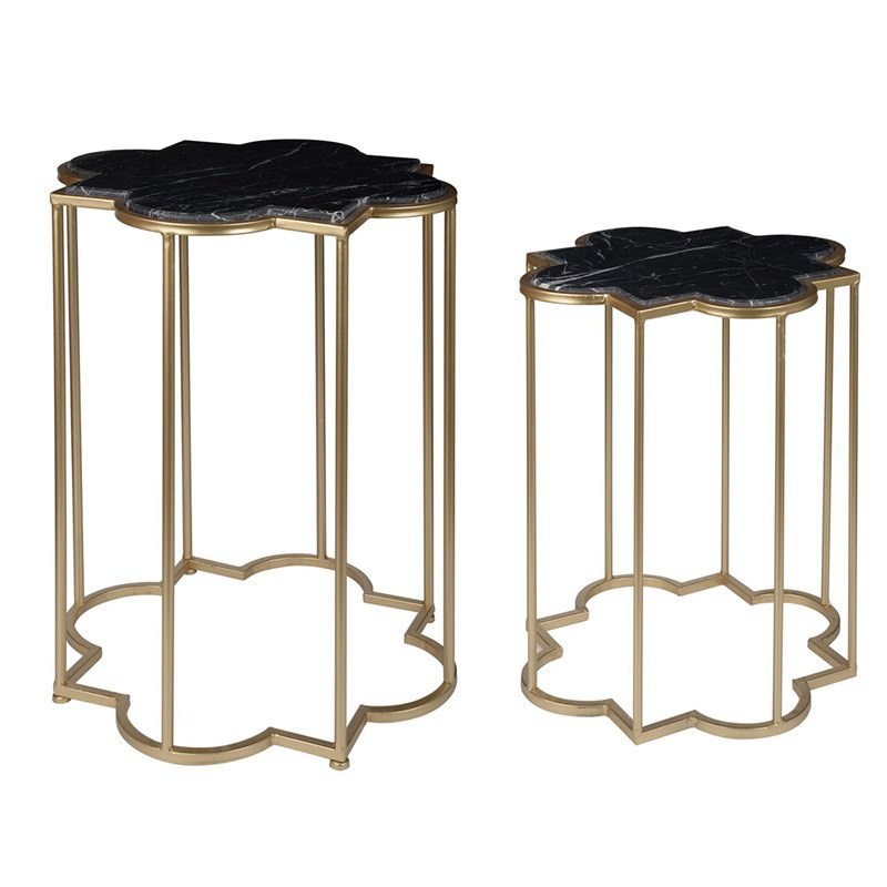 Excellent Darlene 2 Piece Marble Top Metal Side Table Set Download Free Architecture Designs Intelgarnamadebymaigaardcom