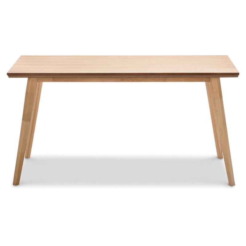 Bruno Wooden 150cm Dining Table Natural Oak : 41 052 from www.livingstyles.com.au size 800 x 800 jpeg 32kB