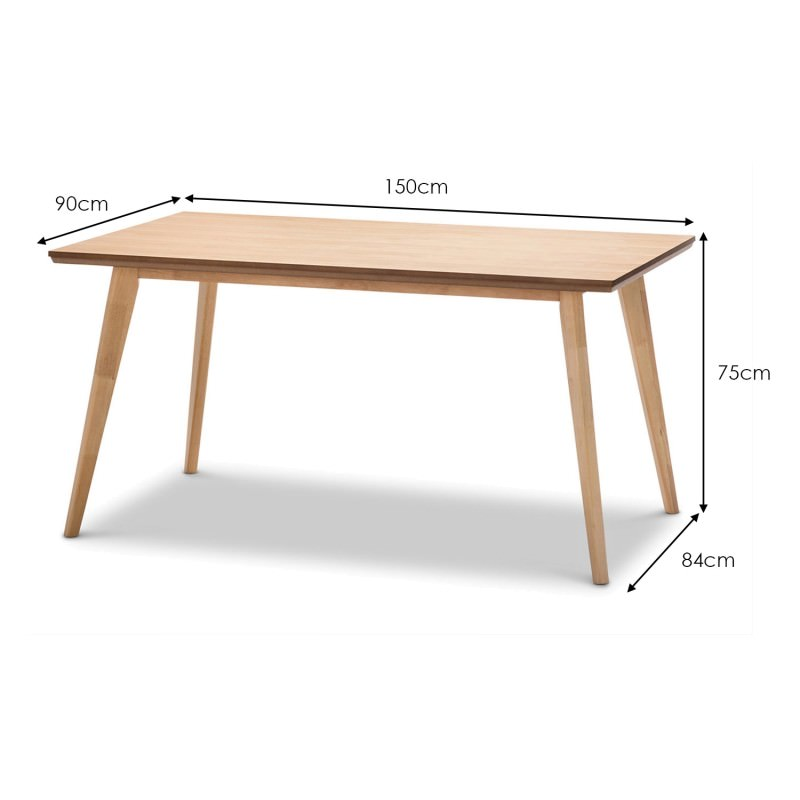 Bruno Wooden 150cm Dining Table Natural Oak : 41 05251 from www.livingstyles.com.au size 800 x 800 jpeg 38kB
