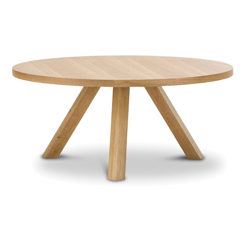 Cool Roi Wooden Round Coffee Table 80Cm Light Oak Pabps2019 Chair Design Images Pabps2019Com