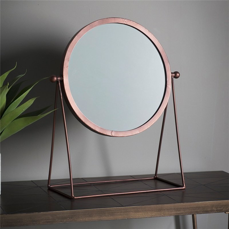 Webber Metal Frame Table Top Mirror Copper