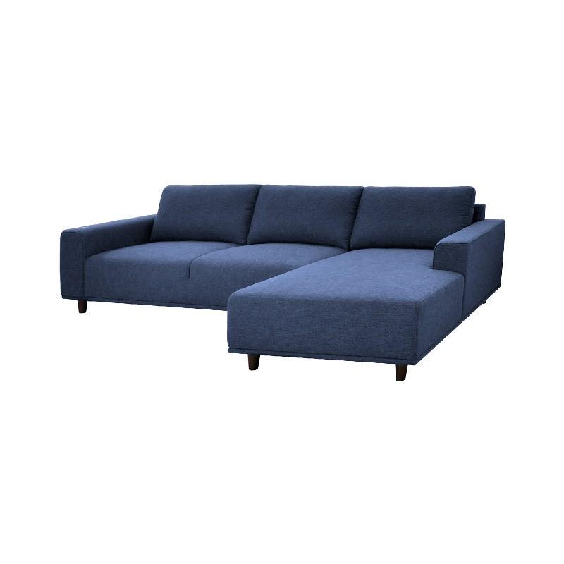 Surprising Janell Linen Fabric 2 Seater Corner Sofa With Right Hand Facing Chaise Denim Ncnpc Chair Design For Home Ncnpcorg