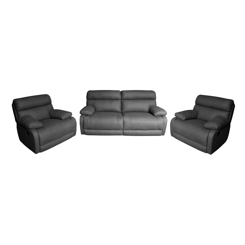 Dorset 2 5 1 1 Seater Rhino Fabric Recliner Sofa Suite Licorice