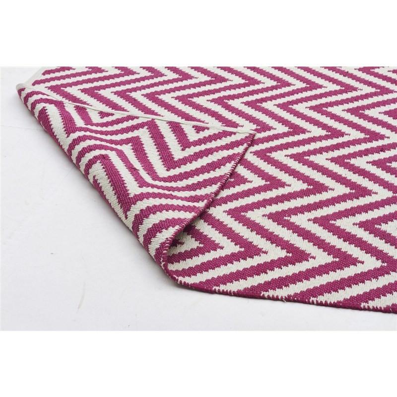 Modern Double Sided Flat Weave Chevron Design Cotton