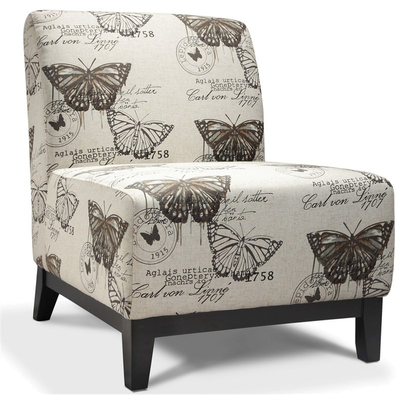 Ace Butterfly Fabric Sofa Chair