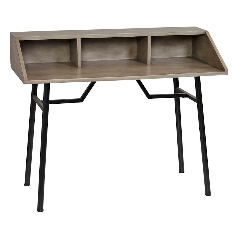 Oxford Timber Metal Secretary Desk