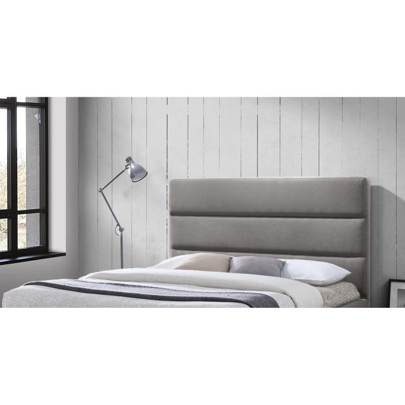 Elisha Linen Fabric Bed Headboard, King, Grey