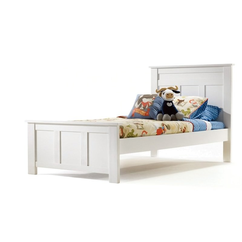 Boston Solid New Zealand Pine Timber King Single Bed - White
