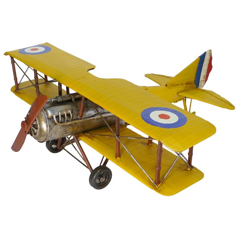 Boutica Handmade Tin Aircraft Modle Curtis Jenny Biplane