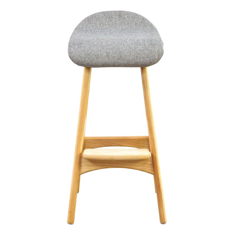 finest selection b69a6 4d442 Replica Erik Buch Counter Stool with Fabric Seat, Natural / Grey
