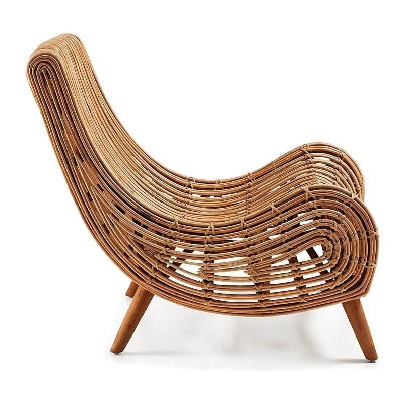 macon solid cane rattan accent lounge chair. Black Bedroom Furniture Sets. Home Design Ideas