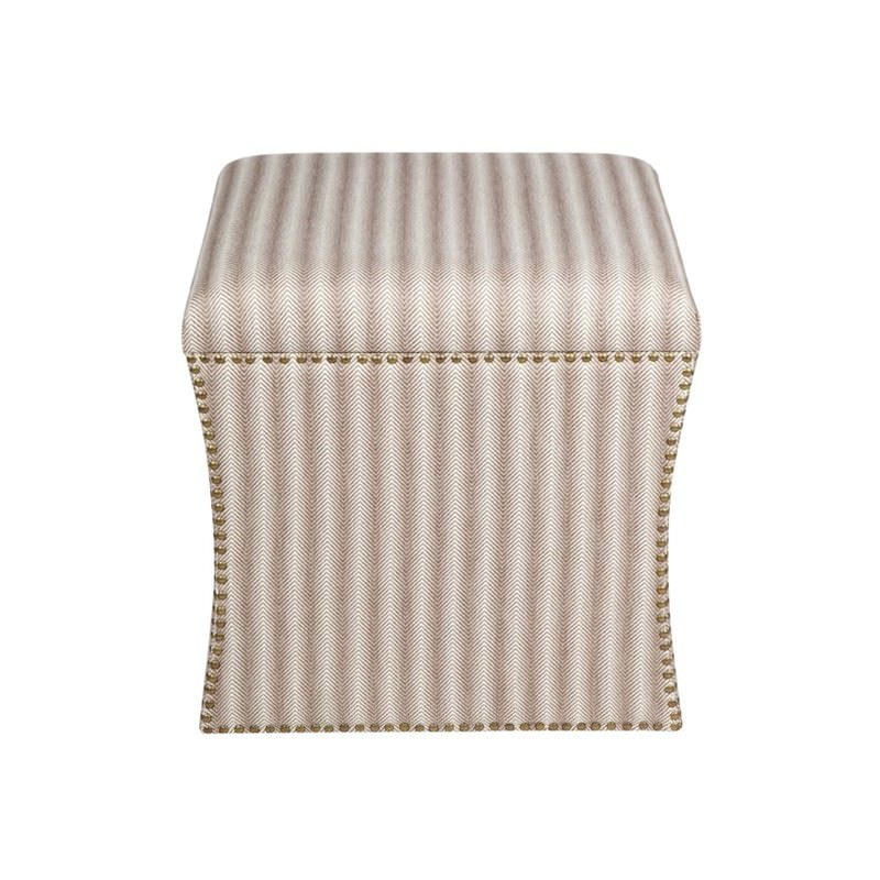 Sensational Cube Chevron Cotton Upholstered Storage Ottoman Caraccident5 Cool Chair Designs And Ideas Caraccident5Info