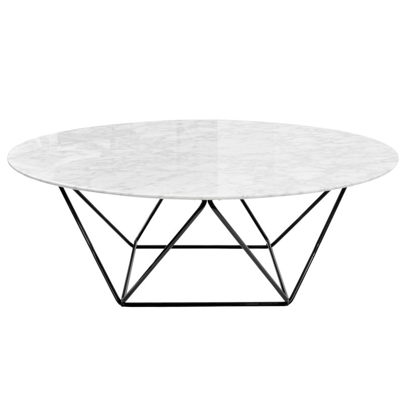 Sensational Owen Marble Metal Round Coffee Table 100Cm Black Base Andrewgaddart Wooden Chair Designs For Living Room Andrewgaddartcom