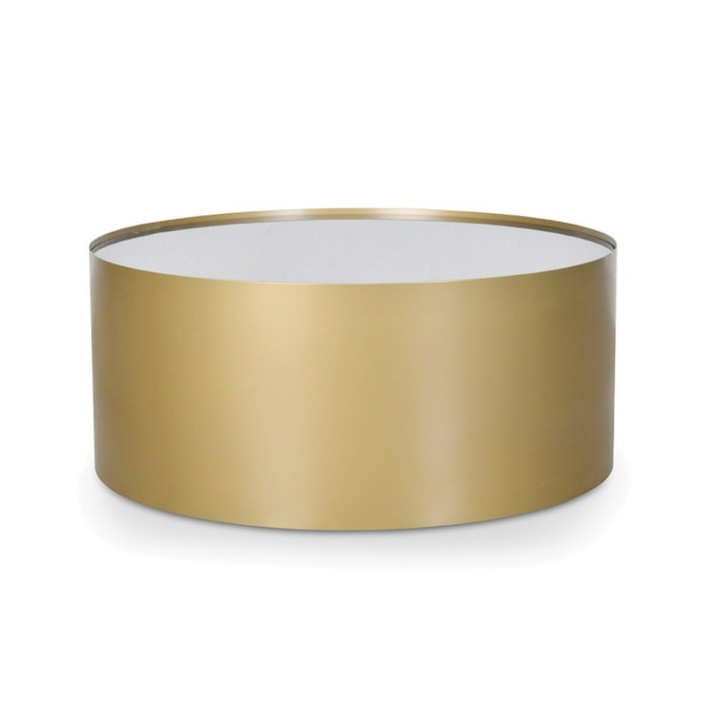 Gold Metal Round Coffee Table.Tempest Marble Top Metal Round Coffee Table 80cm Black Gold