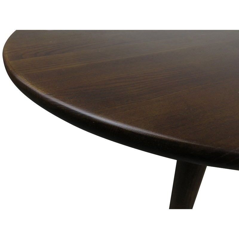 Jacob Solid Ash Timber 66cm Round Coffee Table Dark Brown