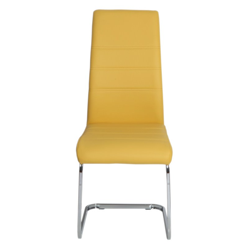 Astounding Morton Faux Leather Dining Chair Yellow Gmtry Best Dining Table And Chair Ideas Images Gmtryco