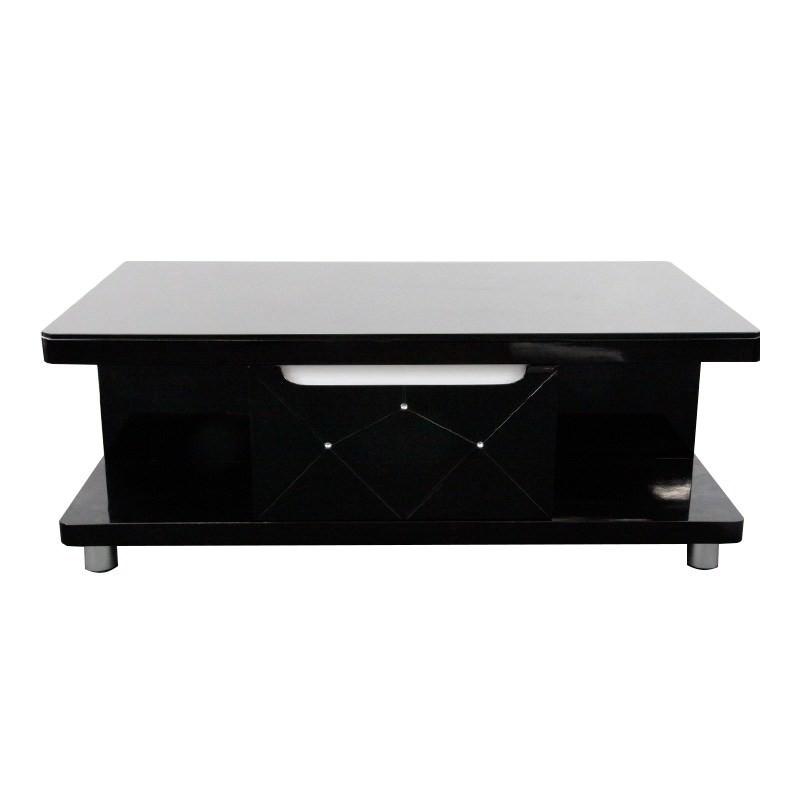 White High Gloss Coffee Table 85 Cm: High Gloss Black Coffee Table