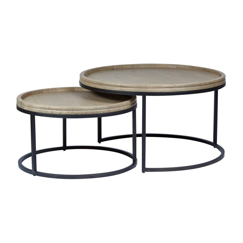 Round Coffee Table Set Of 2 3