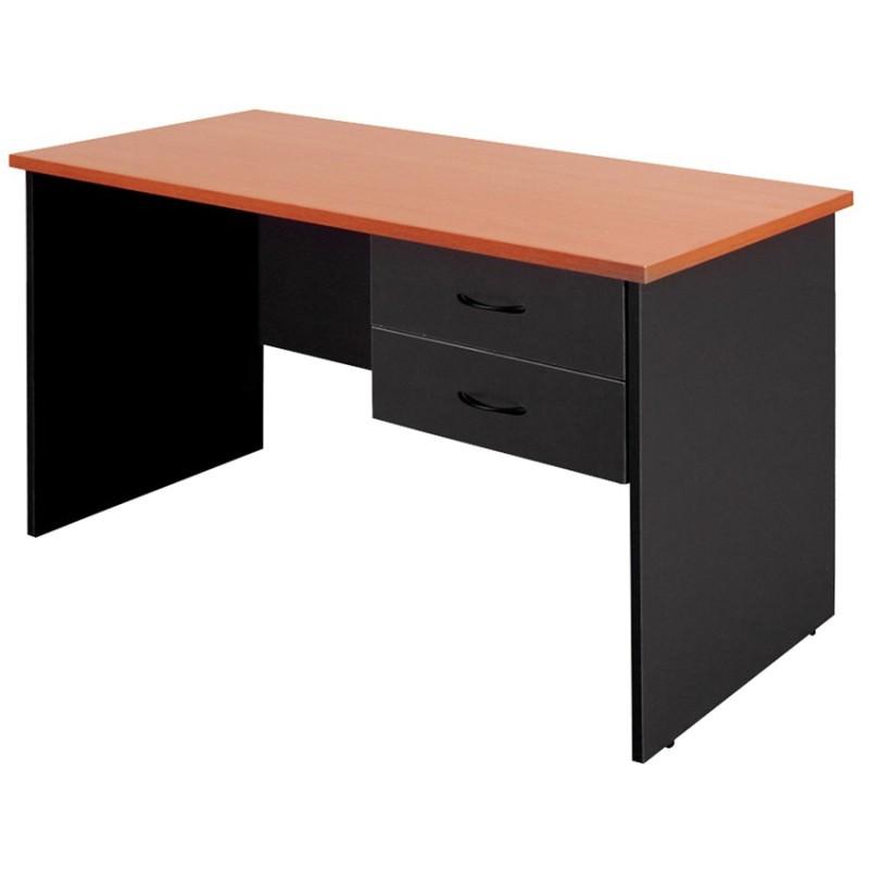 Logan Study Desk With Drawers 120cm Beech Black