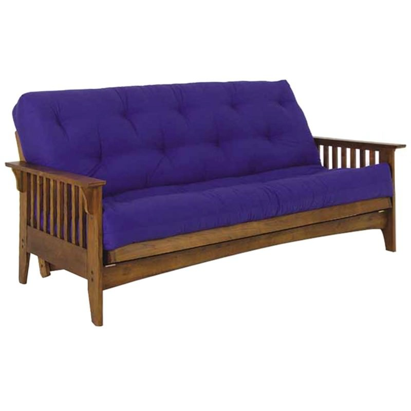 Dundee Solid Oak Timber Futon Sofa Bed Frame Only Double