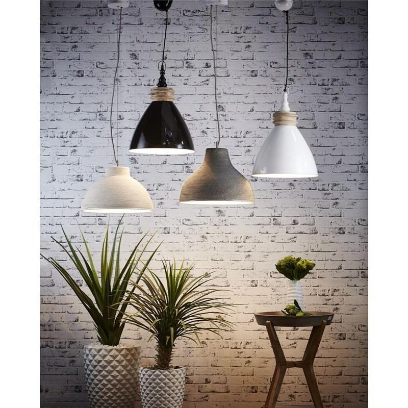 Sardinia Metal Pendant Light White