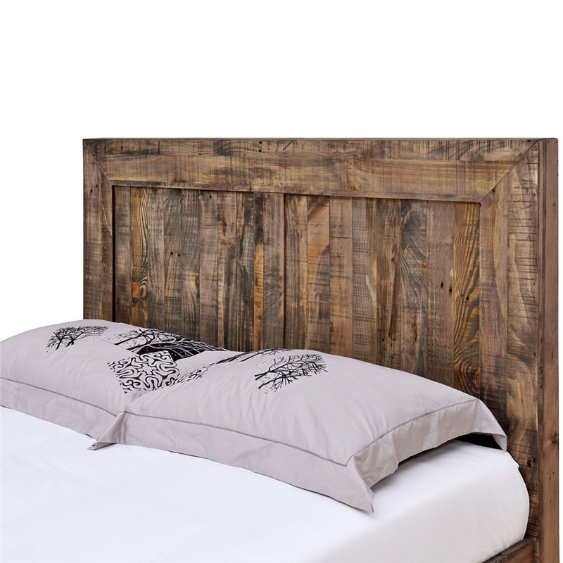 Boston Solid Recycled Pine Timber Queen Size Bed