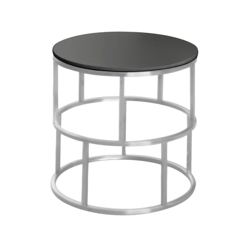 BRAND NEW ROUND GLASS TOP COFFEE SIDE TABLE BLACK