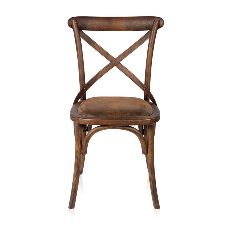calais solid elm timber cross back dining chair with suede seat. Black Bedroom Furniture Sets. Home Design Ideas