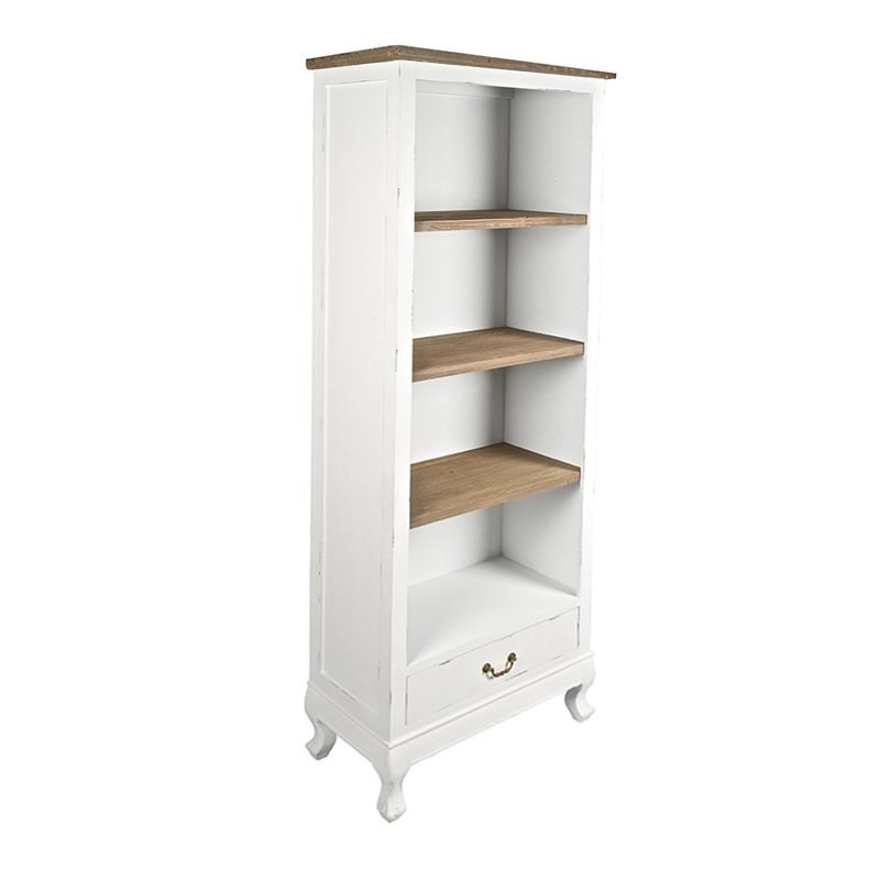 Orlena 2 Tone Wooden Single Drawer Bookcase