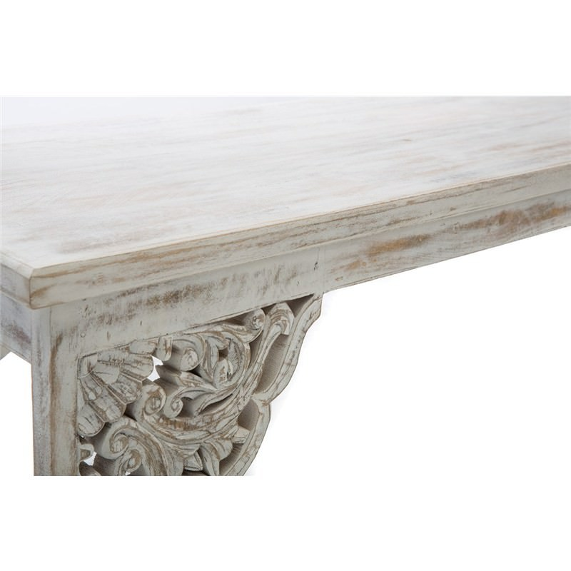 Nomads Hand Carved Solid Mango Wood Timber 180cm Bench