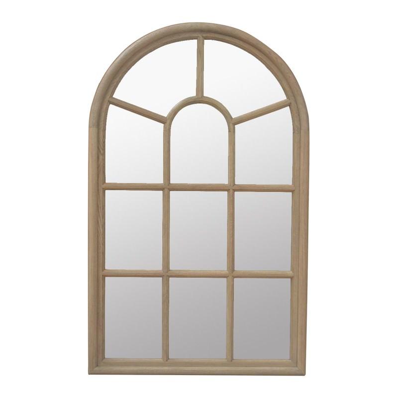 Jamie Oak Timber Frame Wall Mirror, 138cm, Weathered Oak