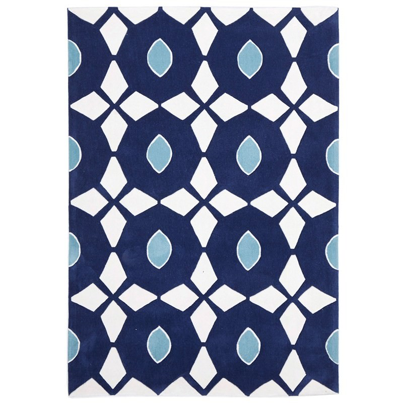 Narris Bead And Reel Hand Tufted Rug In Navy 280x190cm