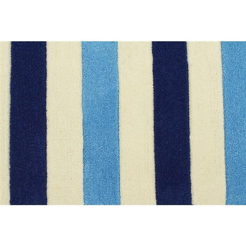 Nautical Blue Rug: Nautical Stripes Kids Rug In Blue