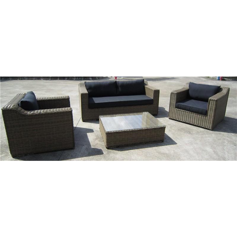 Rattan Coffee Table Dubai: Dubai 4-Piece Wicker Lounge Set