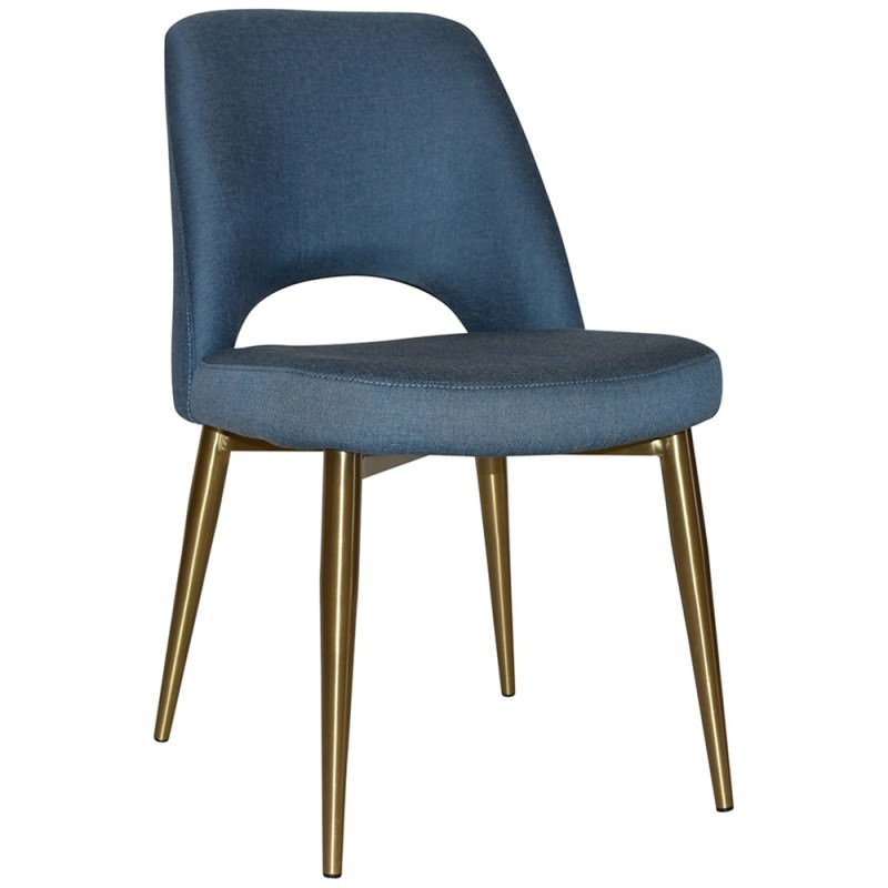 Albury Commercial Grade Gravity Fabric Dining Chair Slim