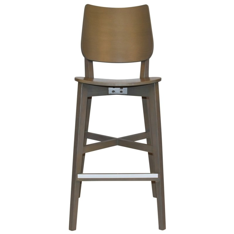 Brilliant Dakota Commercial Grade Oak Timber Bar Stool Timber Seat Olive Grey Theyellowbook Wood Chair Design Ideas Theyellowbookinfo