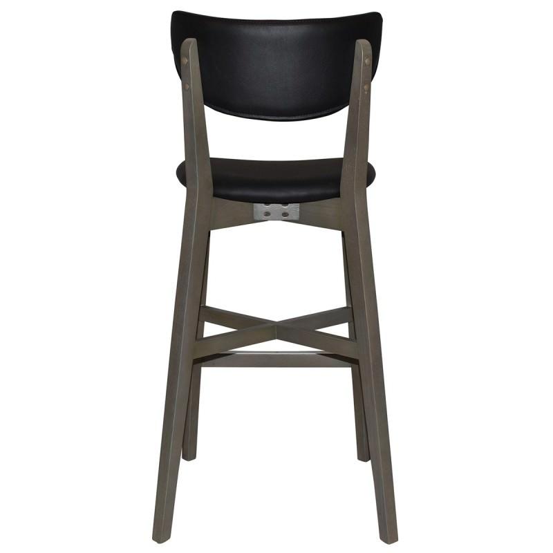 Rialto Commercial Grade Oak Timber Bar Stool Vinyl Seat