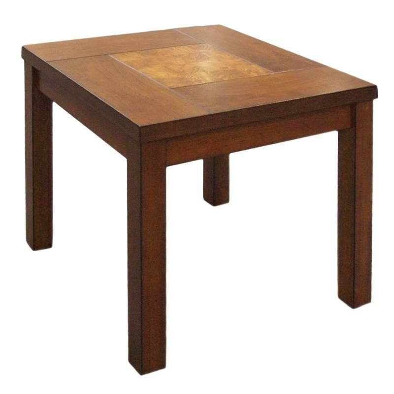Sierra Wooden Square Lamp Table