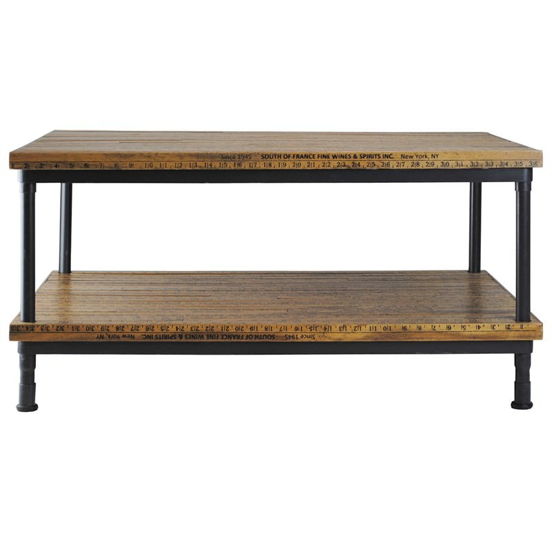 Surveyors Rod Timber and Metal 92cm Coffee Table with Shelf : M 09901 from www.livingstyles.com.au size 800 x 800 jpeg 62kB