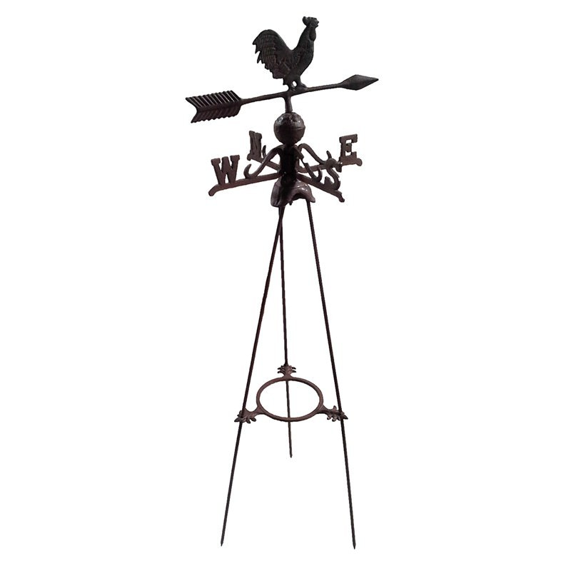 Vintage Tower Of Winds Weathervane: Rooster Cast Iron Wind Vane