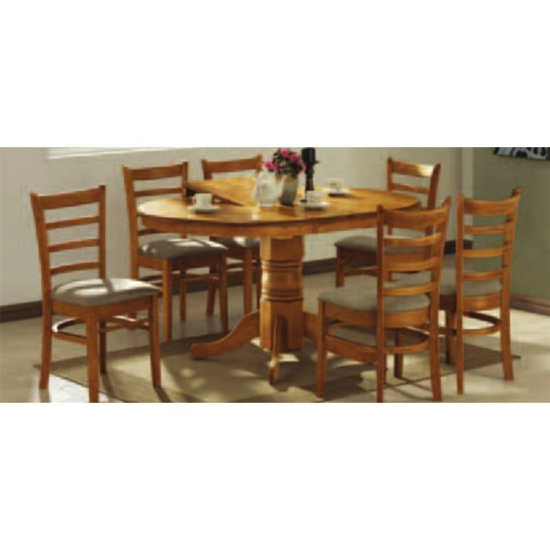 Dining Sets Tuscany Solid Wood Large Dining Set Table 6 Chairs: Mustang Solid Timber Dining Chair With Cushion Seat