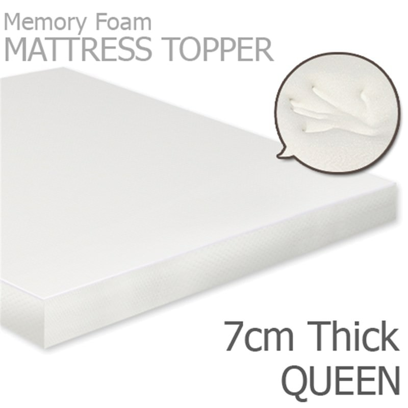 Visco Elastic Memory Foam Mattress Topper 7cm Thickness Queen